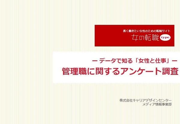 【女の転職type】管理職に関するアンケート調査レポート